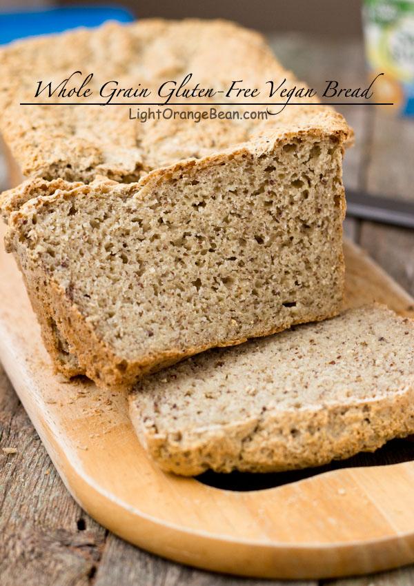whole grain gluten-free vegan bread-side view 01