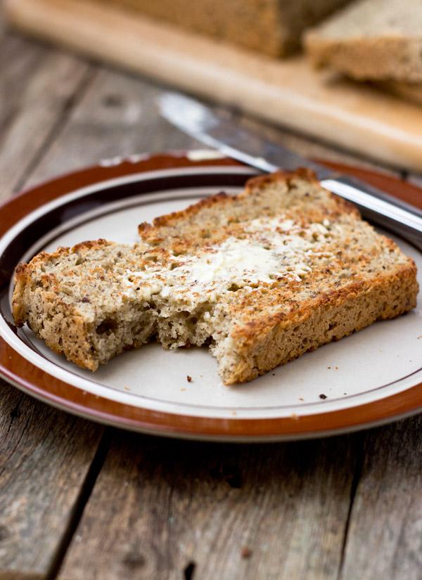 whole grain gluten-free vegan bread-toast