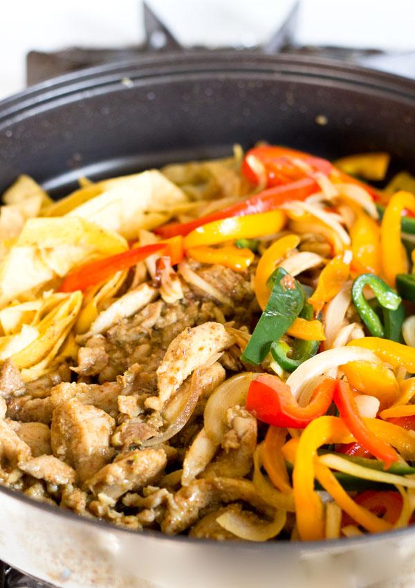 Chicken Fajita Stir-Fry-in pan