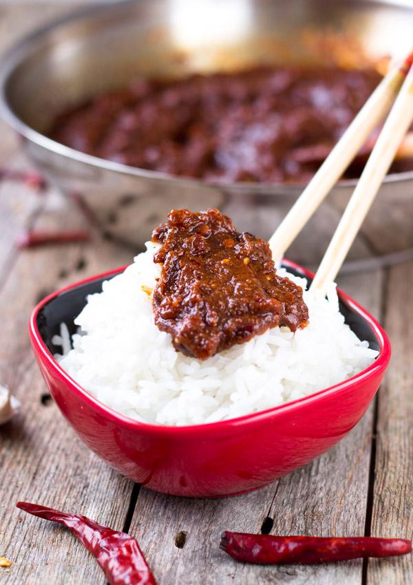 Sichuan Chili Sauce-on rice