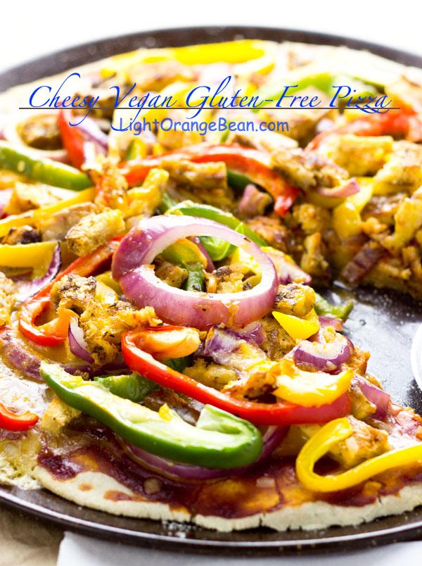 Cheesy Vegan Gluten-Free Pizza