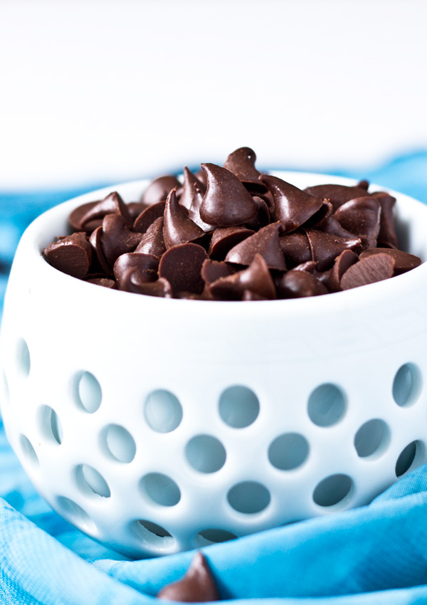 Vegan Chocolate Chips-side view