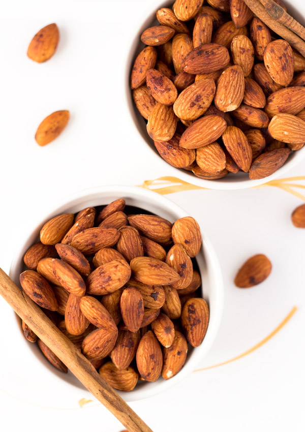 Combining the pleasant taste of almonds with a hint of sweetness and fragrant cinnamon, make these homemade low-salt roasted almonds perfect for snacks, adding to toss salads, or breakfast cereals.