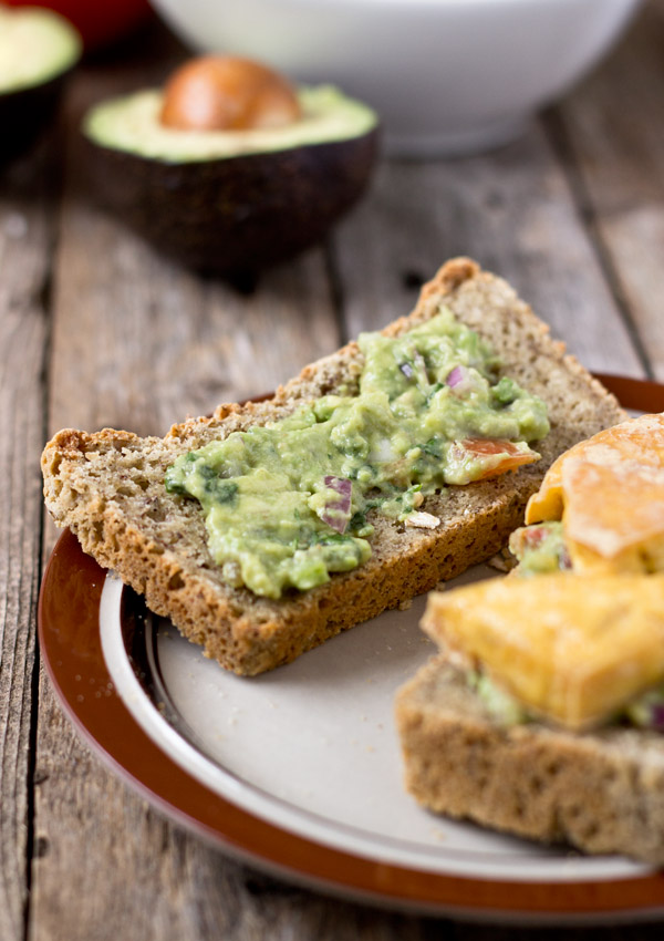 The fresh & creamy guacamole plus the warm & chewy roasted tofu compliment each other to make this guacamole sandwich a wonderful choice for lunch, dinner, or a picnic.