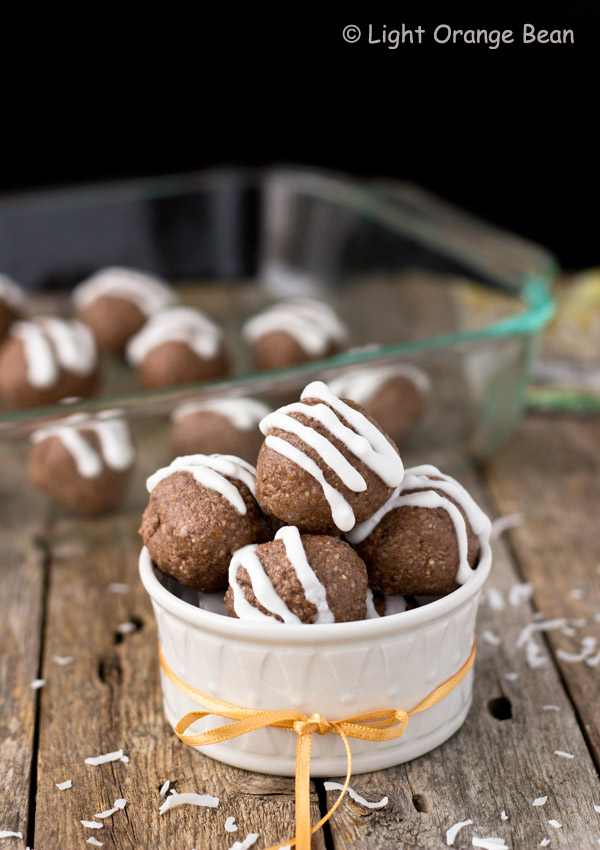 Chocolate and Coconut Bliss Balls