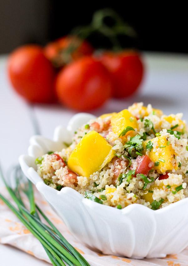 Fresh Tomato Mango Quinoa Salad