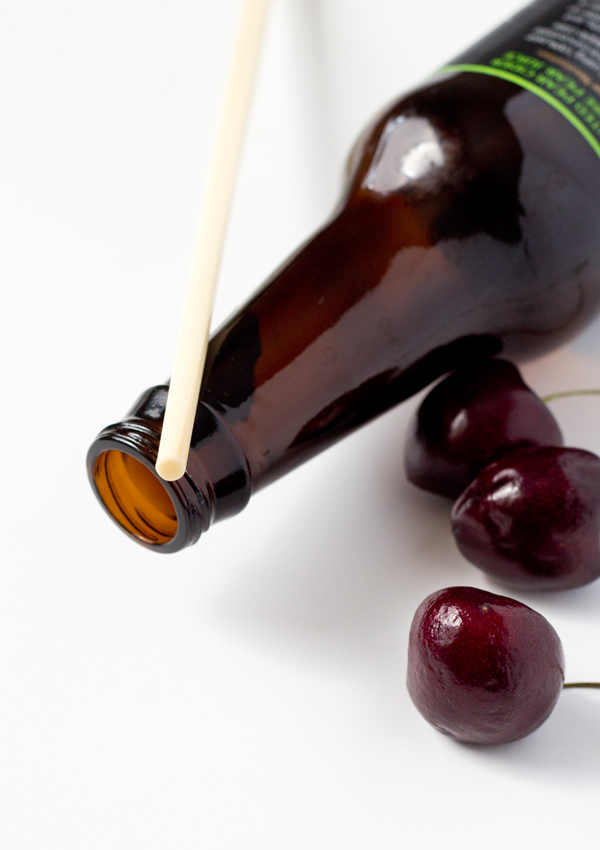 Homemade Cherry Pitter-bottle-chopstick