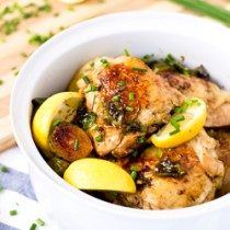 One-Pan Lemon Chicken with Brussels Sprout