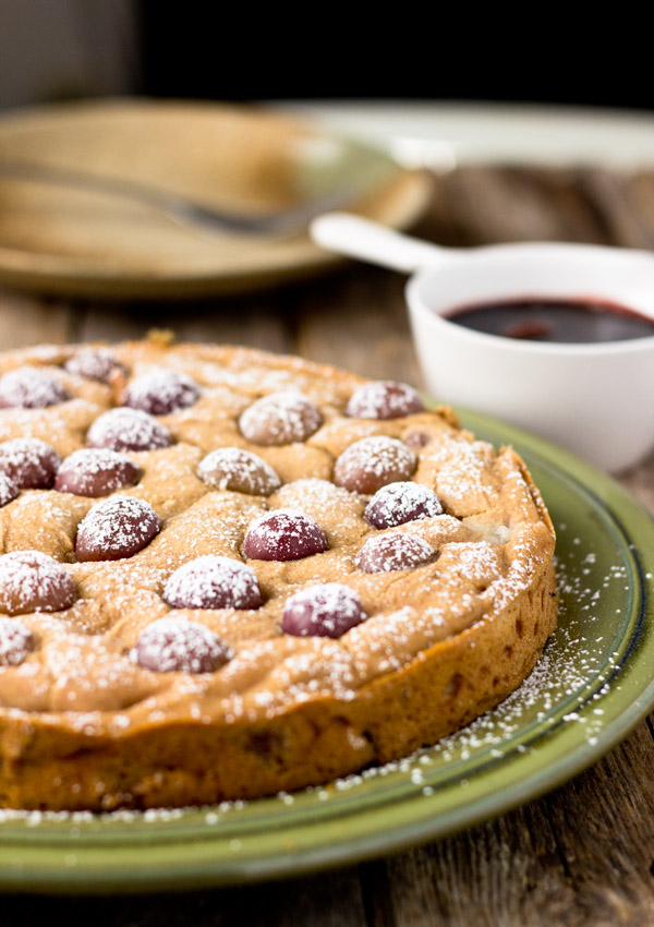 Fresh Red Grape Cake