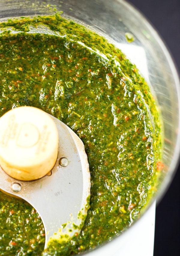 Spicy Dill Cilantro Pesto
