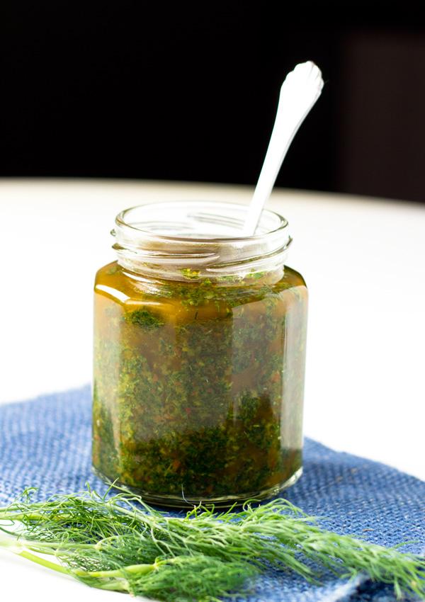 Spicy Dill-Cilantro Pesto