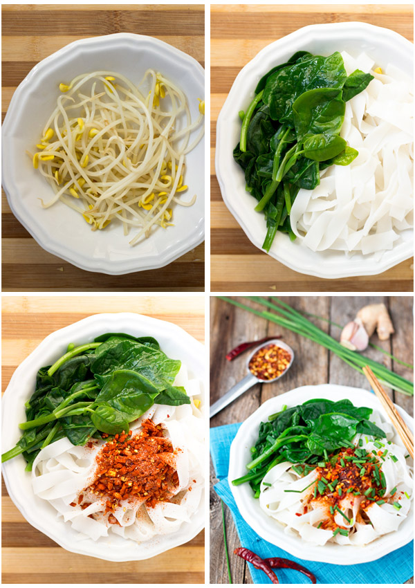 10-Minute Hot Oil Noodles (You Po Mian, Gluten-Free)