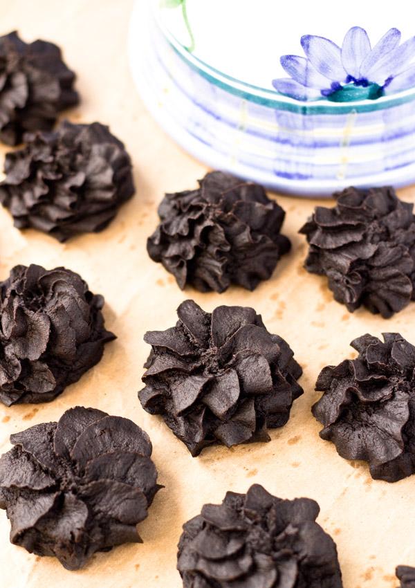 Soft Cream Cheese Dark Chocolate Cookies