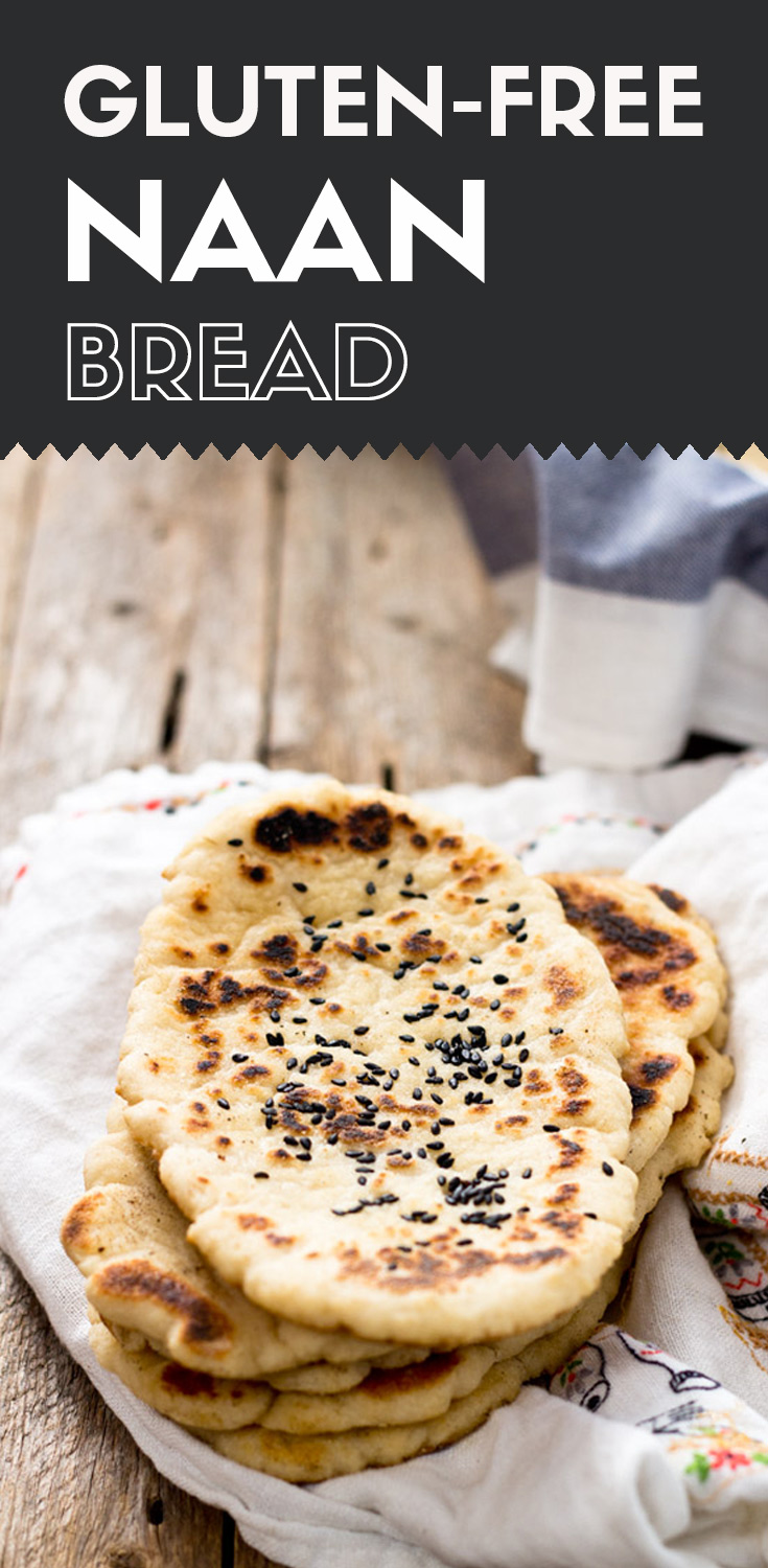 Gluten-free Naan Bread-stacked naan bread on a white towel