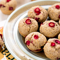 Mini Orange Cranberry Muffins