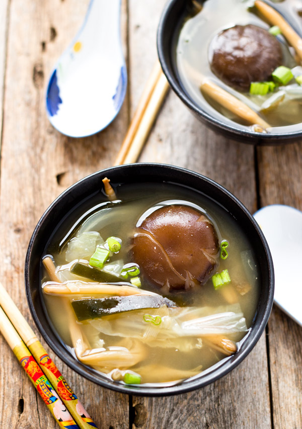 Miso Soup with Shiitake Mushroom
