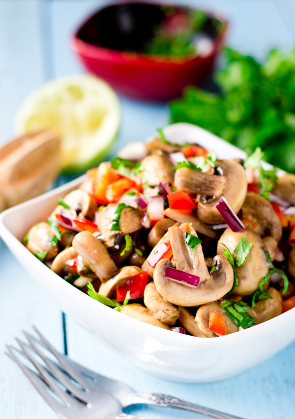 Marinated Mushrooms with Lime