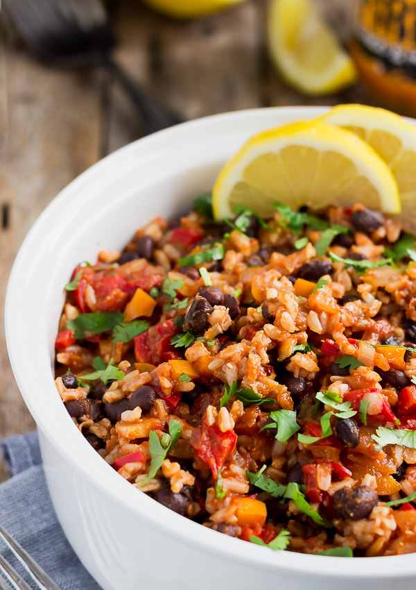 Mexican Rice With Black Beans Light Orange Bean