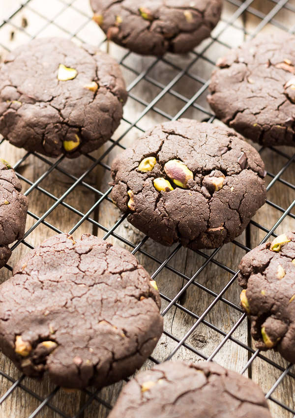 Chocolate Chip Cookies with Pistachios and Sea Salt