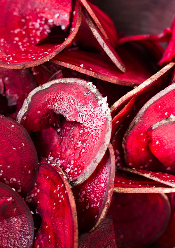Oven Baked Beet Chips