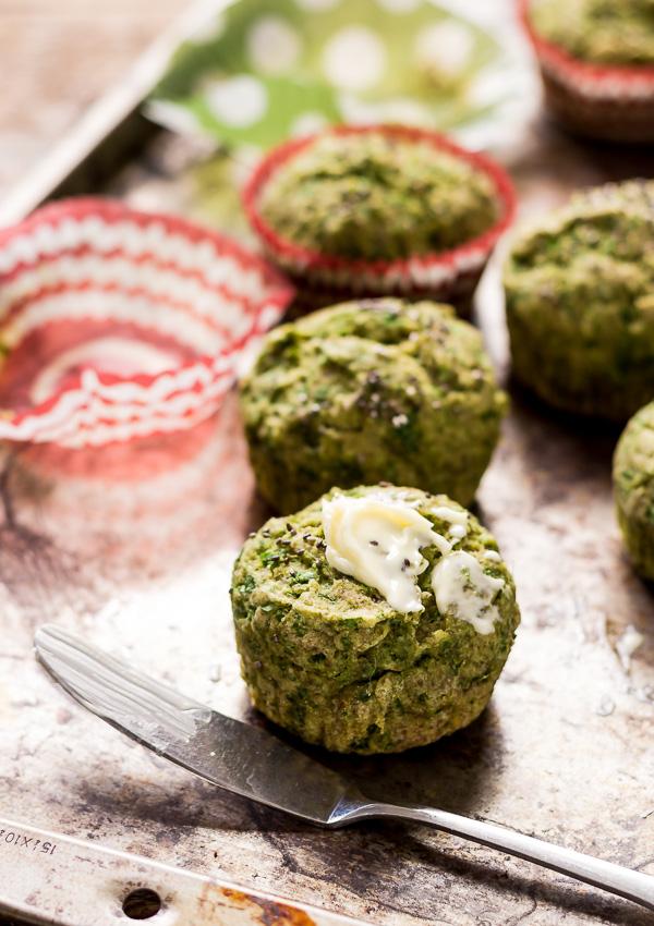 Dinner Spinach Muffins (Vegan/GF)