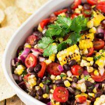 Grilled Corn Black Bean Salsa