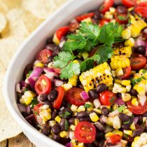 Grilled Corn Black Bean Salsa