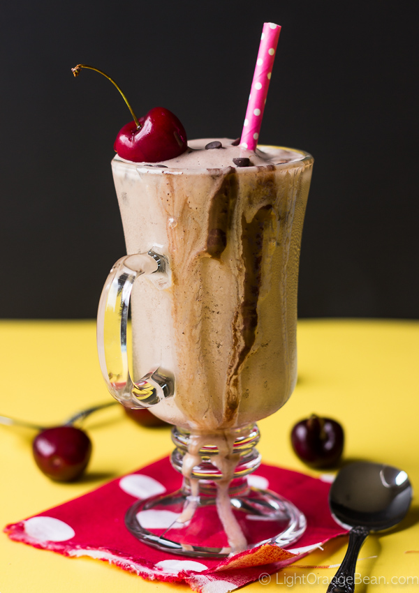 Spiced Chocolate Banana Frozen Kefir Slushie