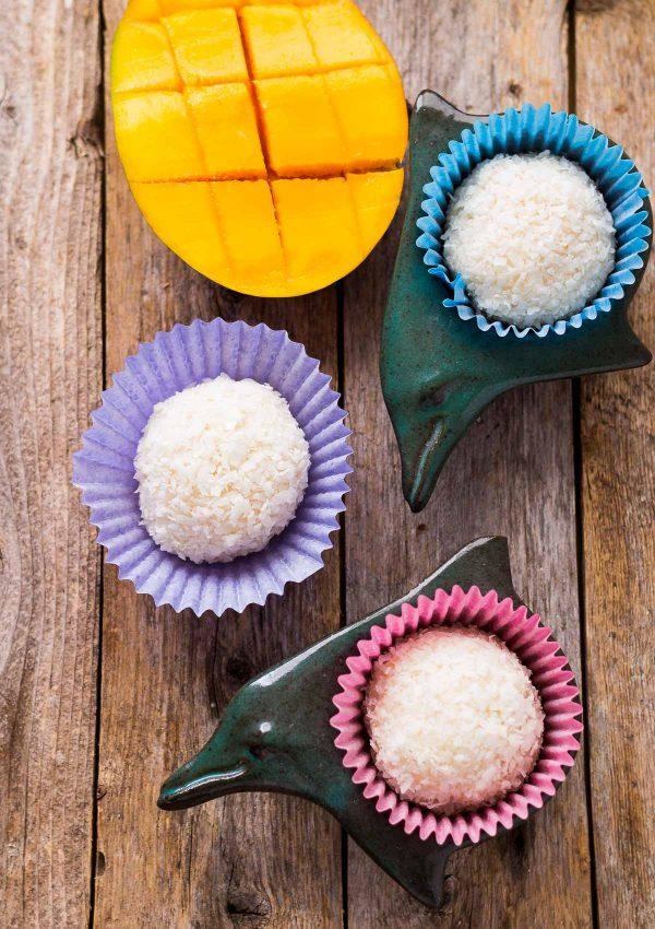 Sugar-free Coconut Mango Mochi