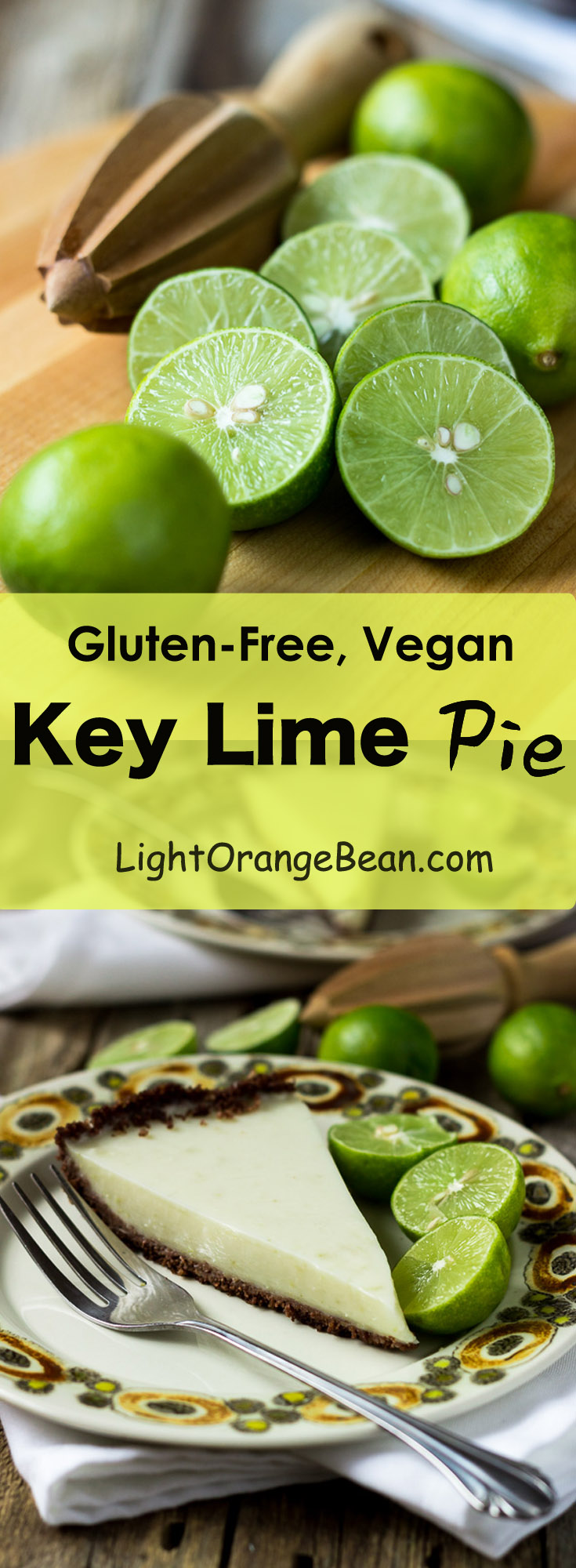 This authentic real key lime pie is a combination of freshness, sweetness, unique tartness, and silky smooth texture.  (#Glutenfree #Vegan #lowcalories #sugarfree #vegandessert #glutenfreepie #simplepiecrust #dairyfree)