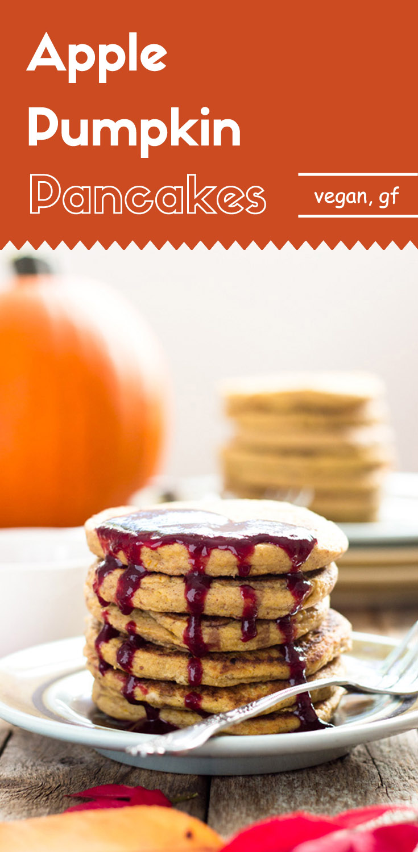 Apple Pumpkin Pancakes (Vegan, Gluten-Free)