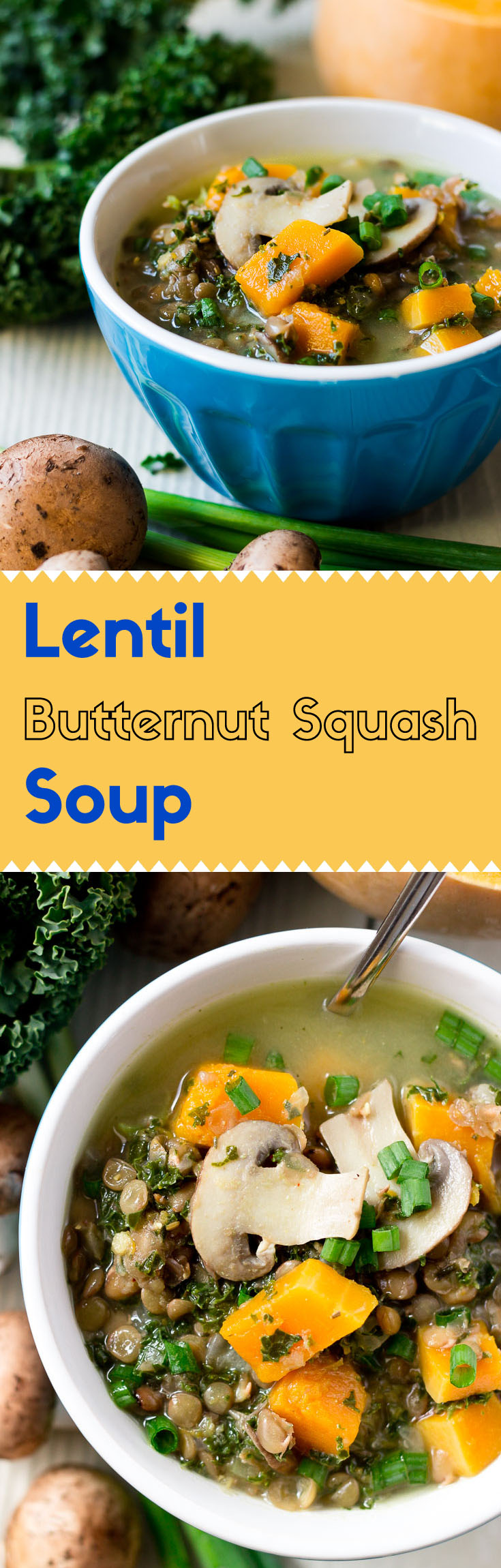 This vegan lentil butternut squash soup is a well-balanced meal with loads of nutrition and flavor. Both kids and adults will appreciate this hearty winter soup.