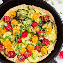 Vegan Hummus Skillet Pizza for Two (Gluten-Free)