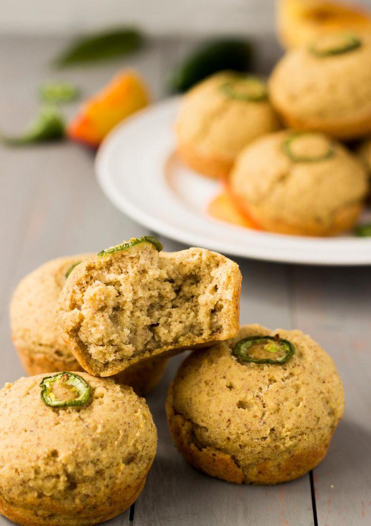 Vegan Jalapeno Peach Muffins