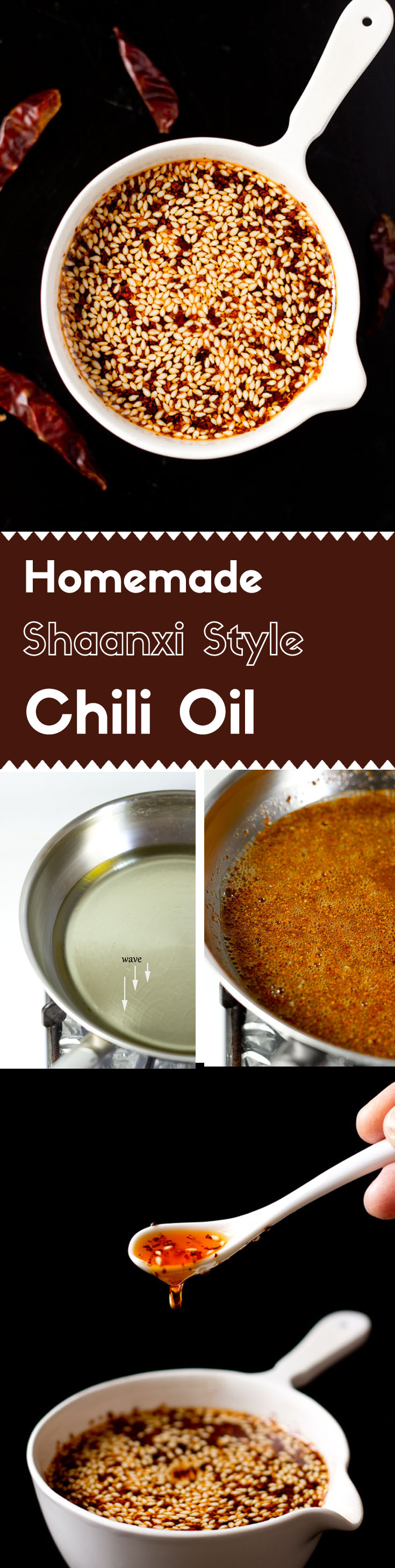This Shaanxi style chili oil has a strong aromatic hot spicy flavor. It's a key element in many authentic Chinese salad, soup, and noodle dishes.