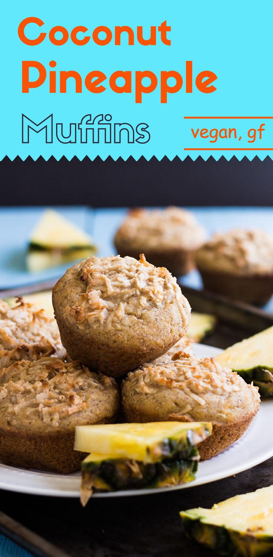Coconut Pineapple Muffins (Vegan/GF)