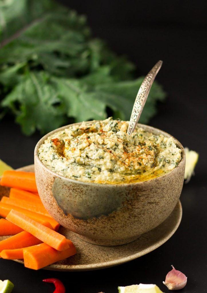 Garden Kale Quinoa Hummus