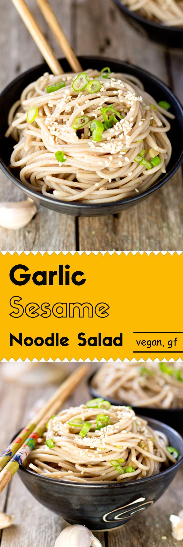 Garlic Sesame Noodle Salad