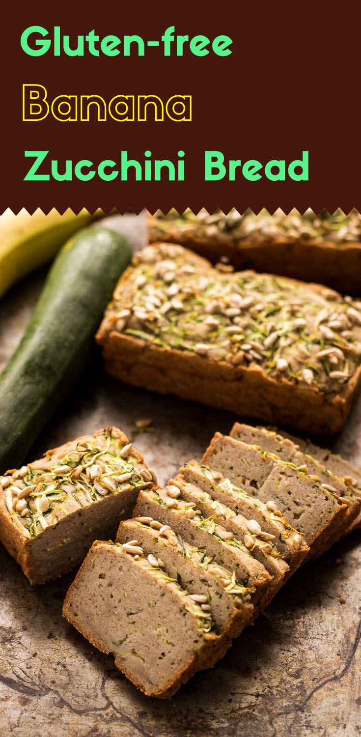 Having the right amount of ingredients, your gluten-free banana zucchini bread will taste much better and it is actually healthier. (#vegan #glutenfree #glutenfreevegan #zucchinibread #glutenfreebreakfast #glutenfreebread #lowsugar)