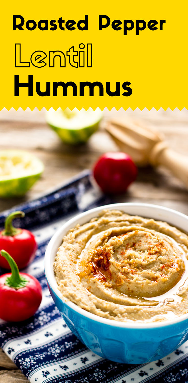 Roasted Pepper Lentil Hummus