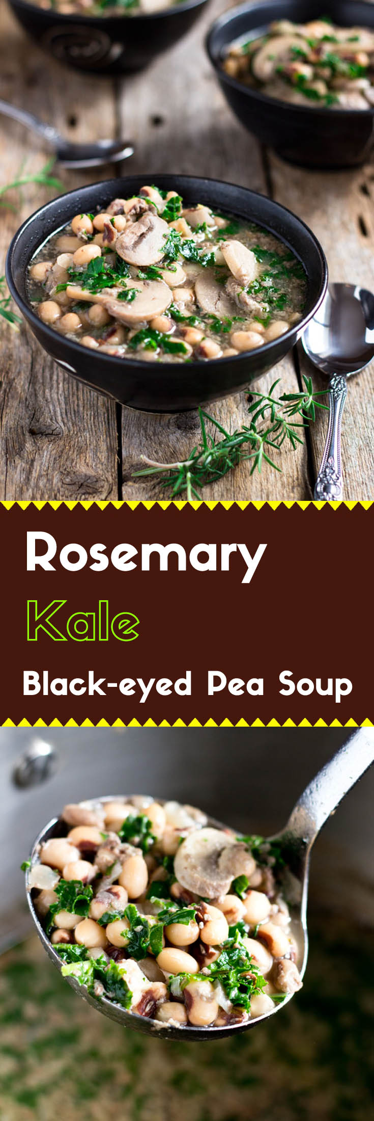 Rosemary Black-Eyed Pea Soup with Kale