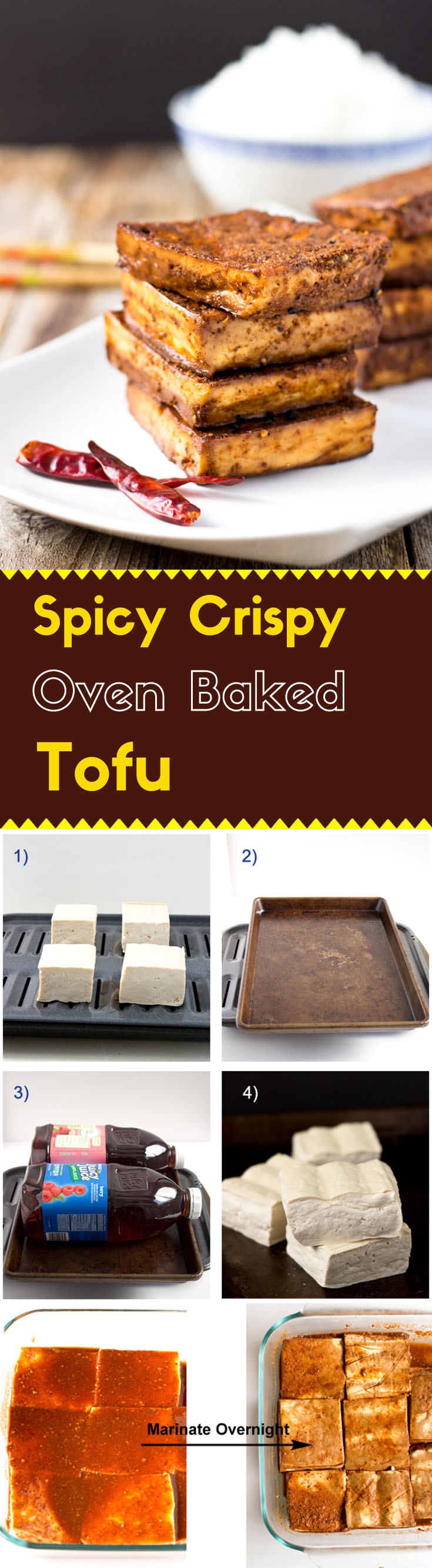 These oven baked tofu blocks are perfectly seasoned with Sichuan style spices and have a fantastic tender chewy texture.
