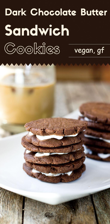 Dark Chocolate Butter Sandwich Cookies
