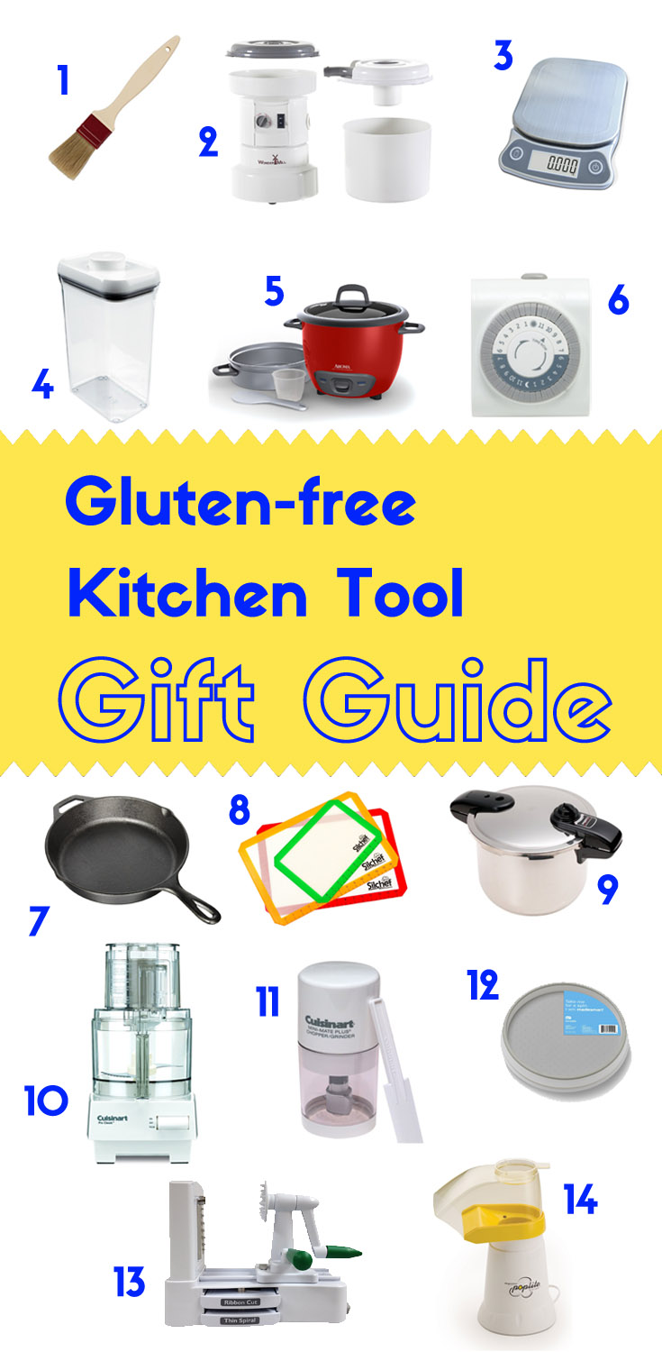 Without the proper tools, going gluten-free can be frustrating.  Having all the right tools and an organized kitchen is equivalent to being given a whole new lease on life.  Read on for the gluten-free kitchen gift guide!