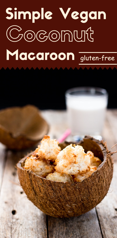 Simple Coconut Macaroons (Vegan/GF)