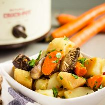 Slow Cooker Shiitake Mushroom Carrot Potato