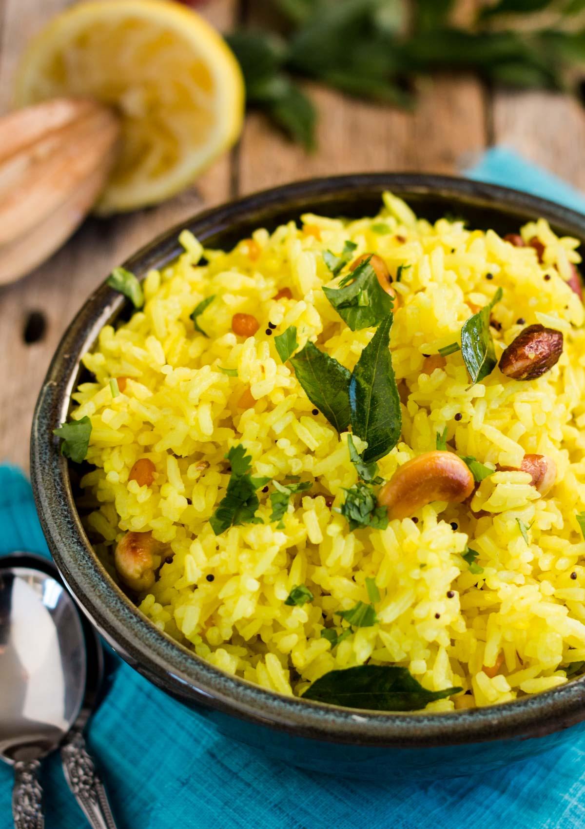South India Lemon Rice Light Orange Bean