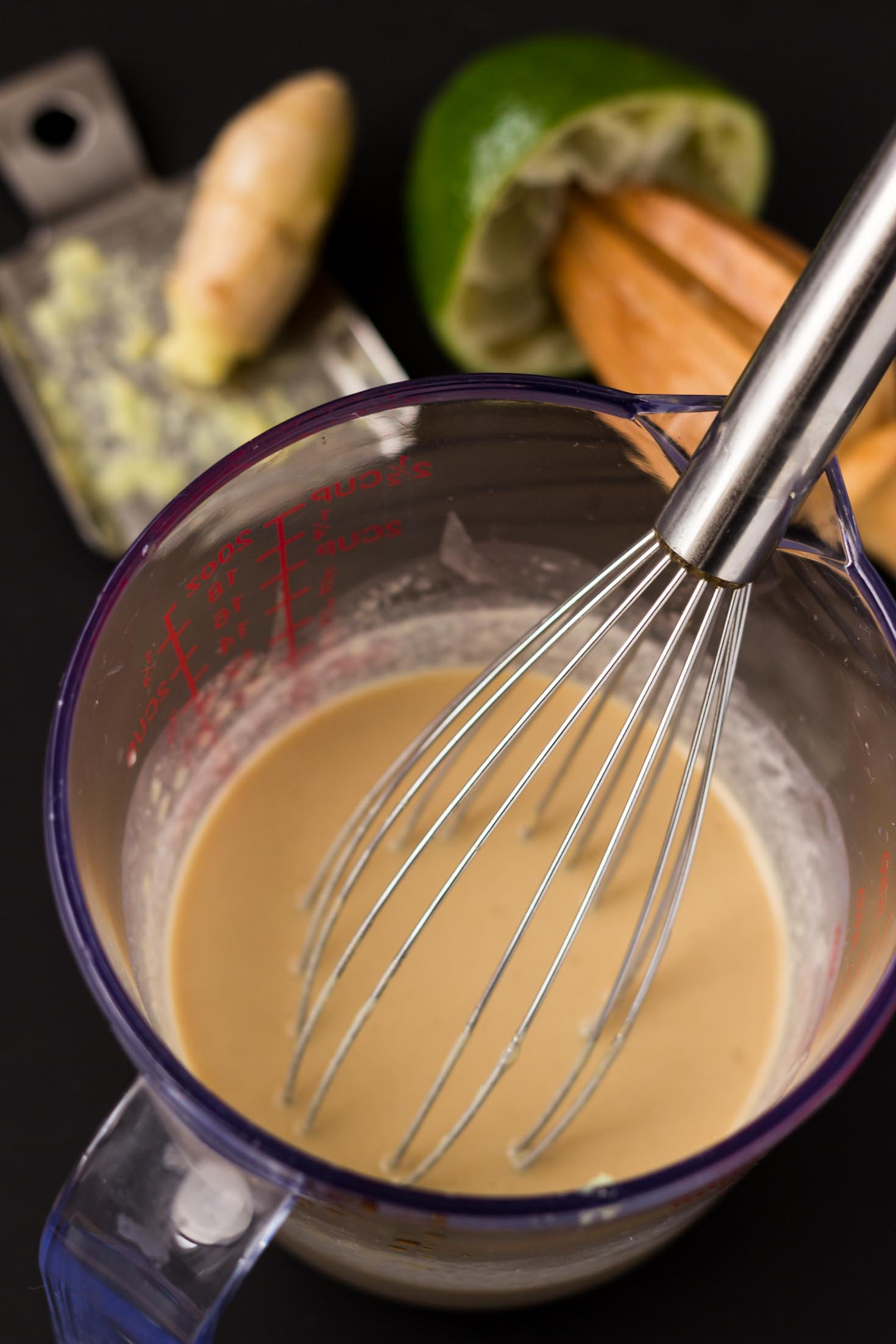 Ginger Lime Tahini Dressing