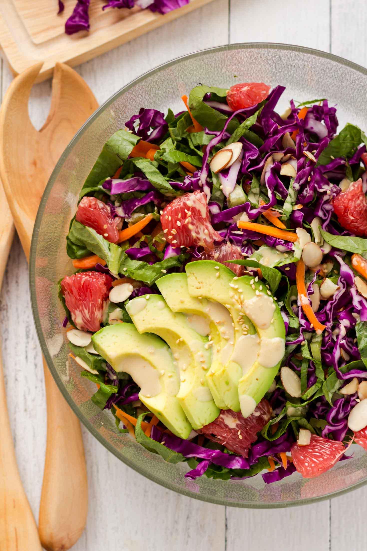 rainbow red cabbage salad