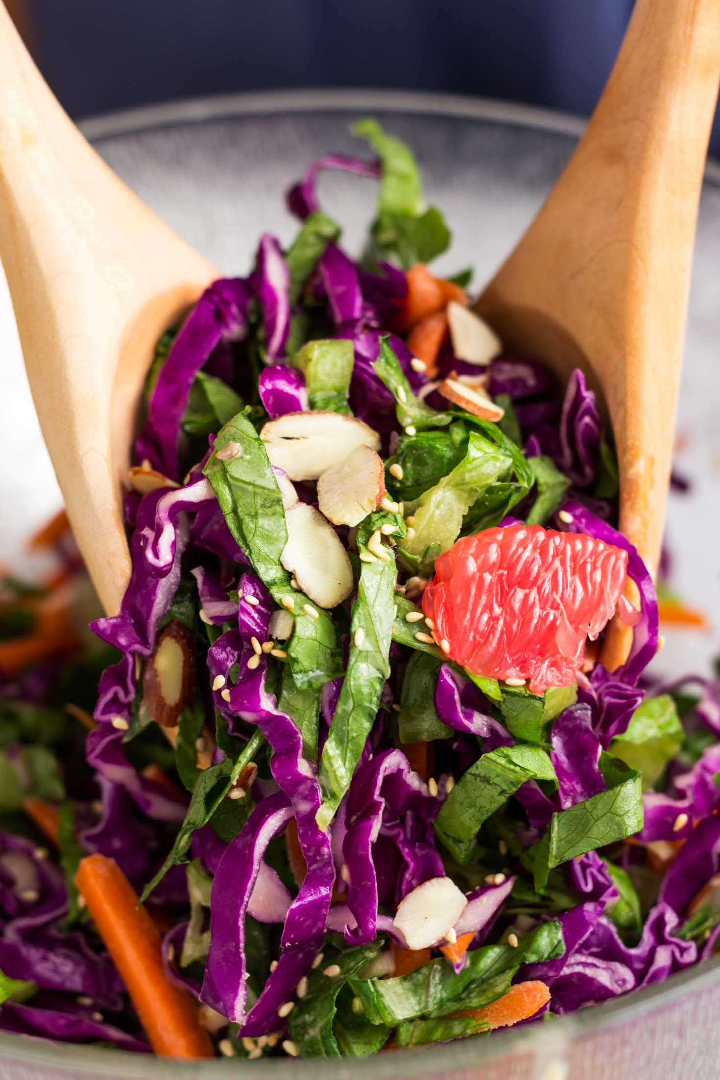 Rainbow Red Cabbage Salad | Light Orange Bean